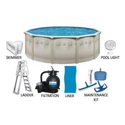 Palisades 21 ft. Round 52 in. Deep Hard Sided Above Ground Pool Package