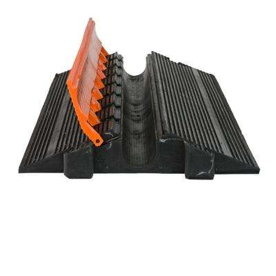 3 ft. Single Channel 2 in. Heavy Duty Cable Protector, Black/Orange