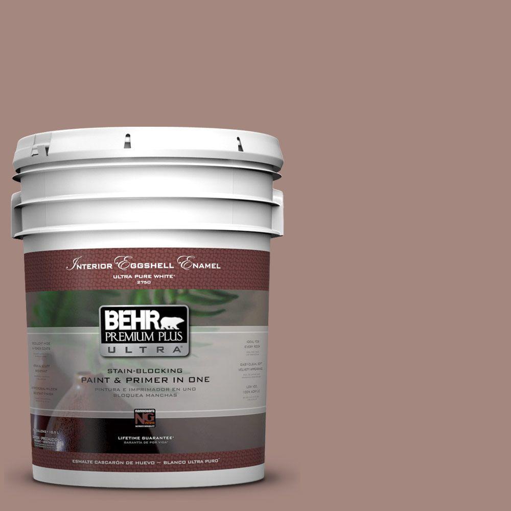 BEHR Premium Plus Ultra 5-gal. #BNC-11 Pink Granite Eggshell Enamel Interior Paint