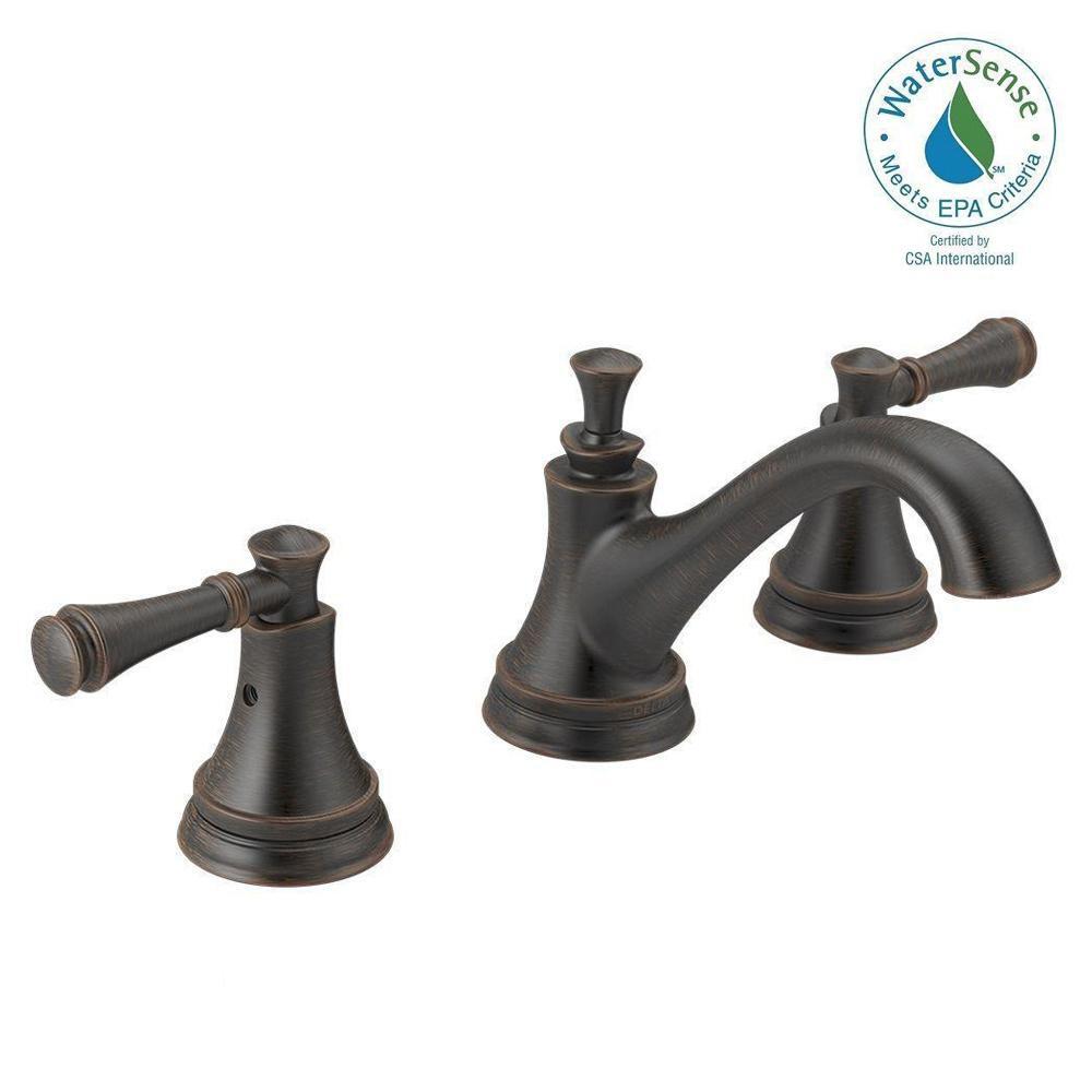 Widespread 2 Handle Bathroom Faucet In SpotShield Venetian Bronze