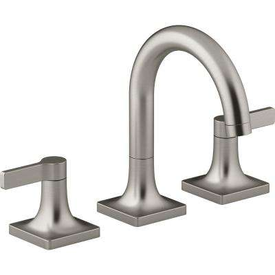 Venza 8 in. Widespread 2-Handle Bathroom Faucet in Vibrant Brushed Nickel