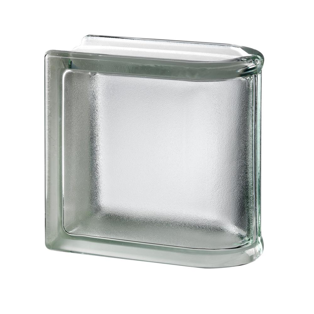 MyMINIGLASS White 5.75 in. x 5.75 in. x 3.15 in. Classic Non-Tinted End Linear Glass Block