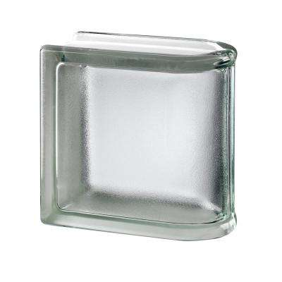 White 5.75 in. x 5.75 in. x 3.15 in. Classic Non-Tinted End Linear Glass Block