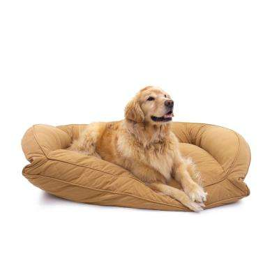 Large/X-Large Saddle Orthopedic Quilted Microfiber Bolster Bed