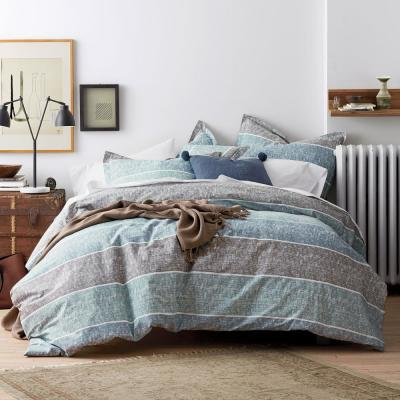 Tri Band Organic Cotton Percale Duvet Cover Set