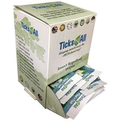 All Natural Flea and Tick Wipes 4 Cats (50-Count Box)