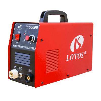 50 Amp Compact Inverter Plasma Cutter for Metal, Dual Voltage 110/220V, 1/2 inch Clean Cut