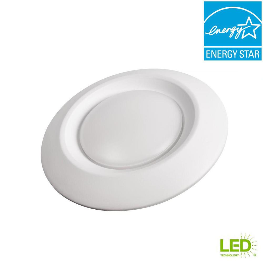 Commercial Electric 6 In Soft White Recessed Led Can Disk Light Ce Start For Flash Lights