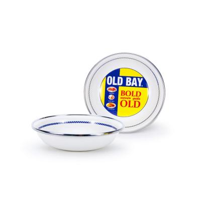 Old Bay 4 oz. Enameled Steel Round Tasting Bowl
