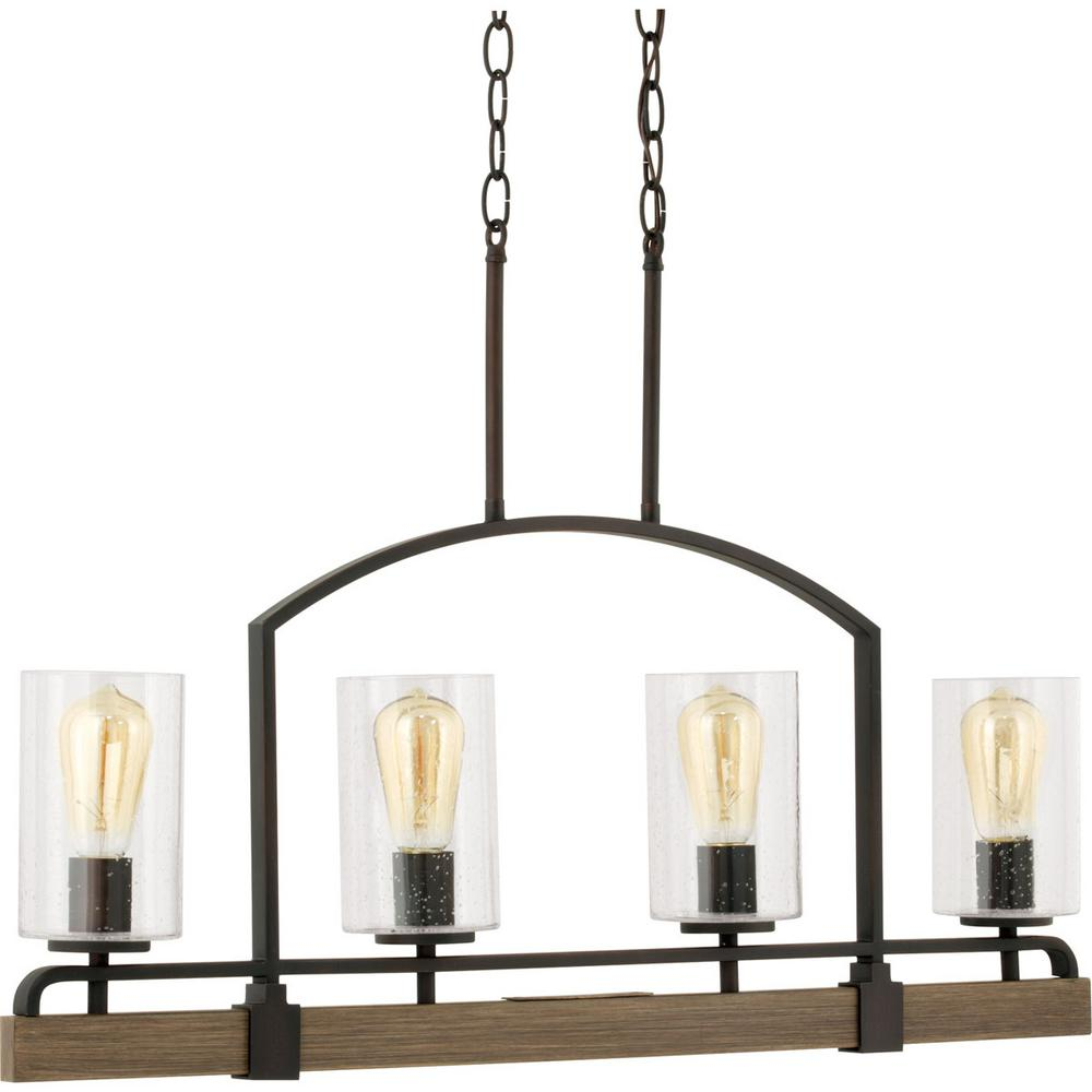 Home decorators collection newbury manor collection 4 light vintage bronze linear chandelier - Vintage home decorating collection ...