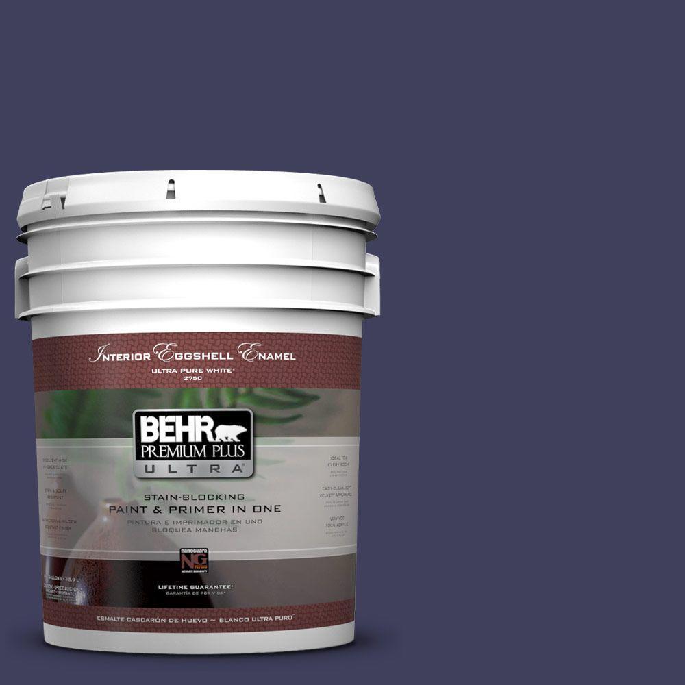 BEHR Premium Plus Ultra 5-gal. #S-H-630 Lunar Eclipse Eggshell Enamel Interior Paint