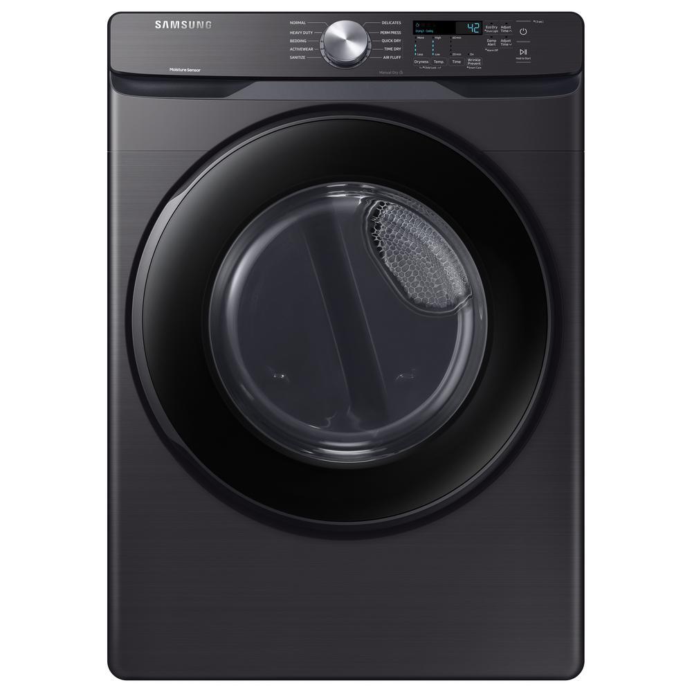 7.5 cu. ft. 240-Volt Black Stainless Dryer with Sensor Dryer (Pedestals Sold Separately)