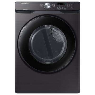 7.5 cu. ft. 120-Volt Black Stainless Gas Dryer with Sensor Dry (Pedestals Sold Separately)