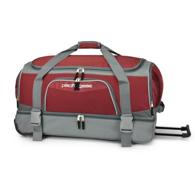 30 in. Drop-Bottom Burgundy Rolling Duffel