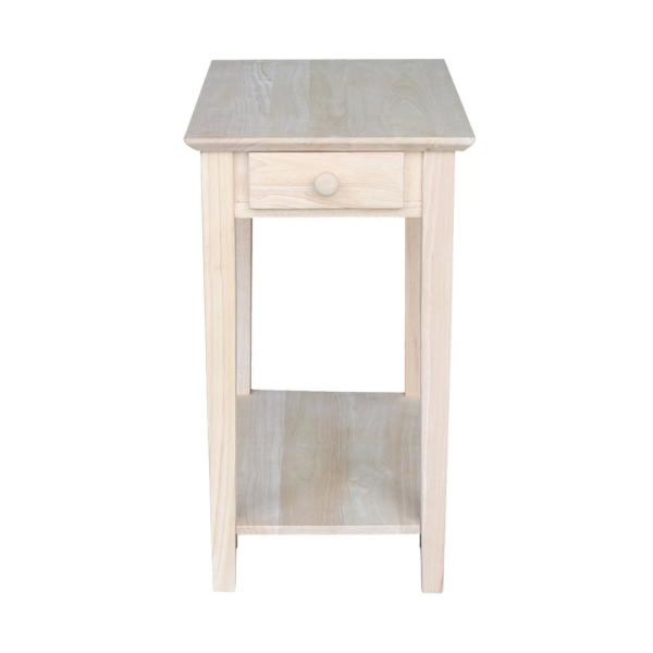 Unfinished Storage End Table