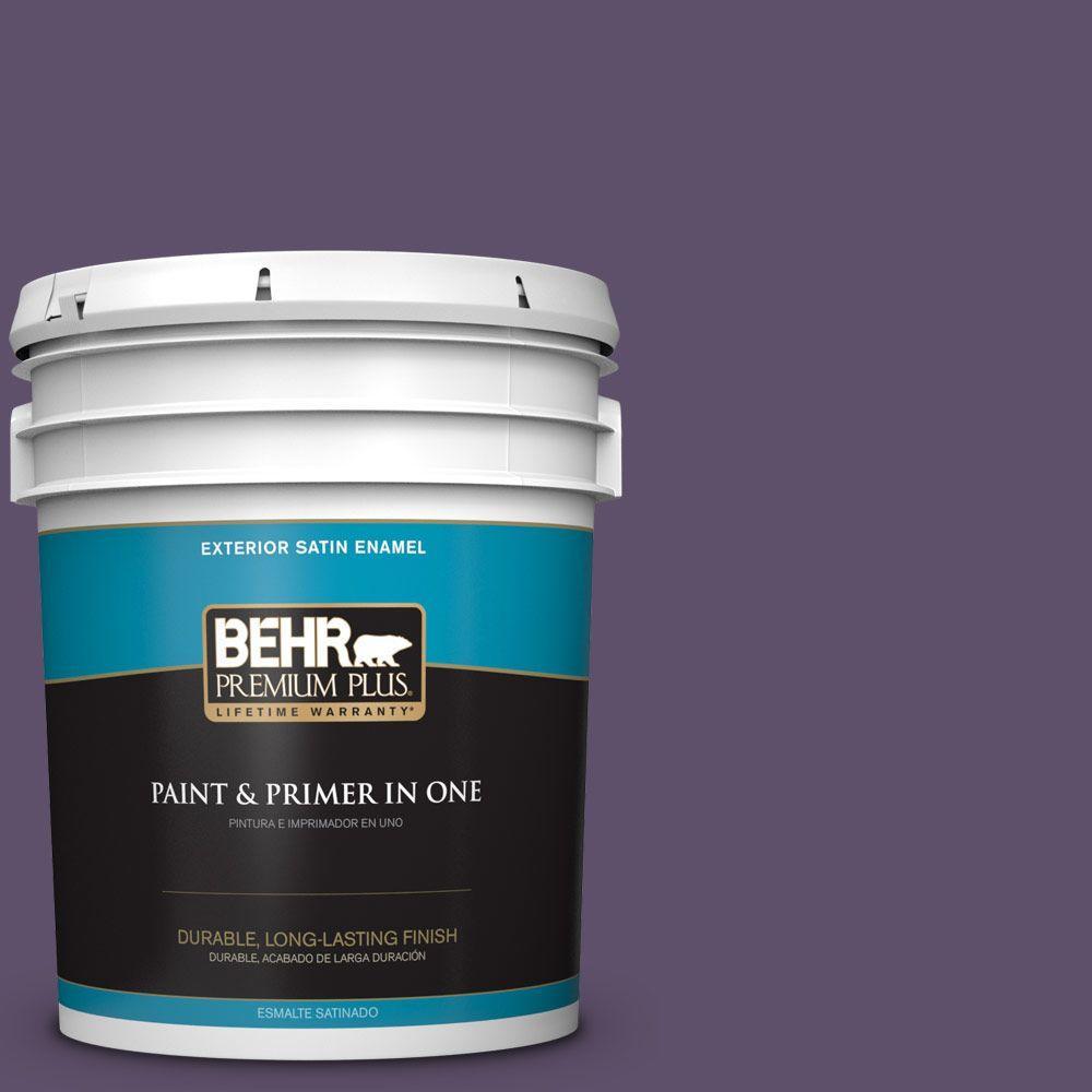 BEHR Premium Plus 5-gal. #M560-7 Muscat Grape Satin Enamel Exterior Paint