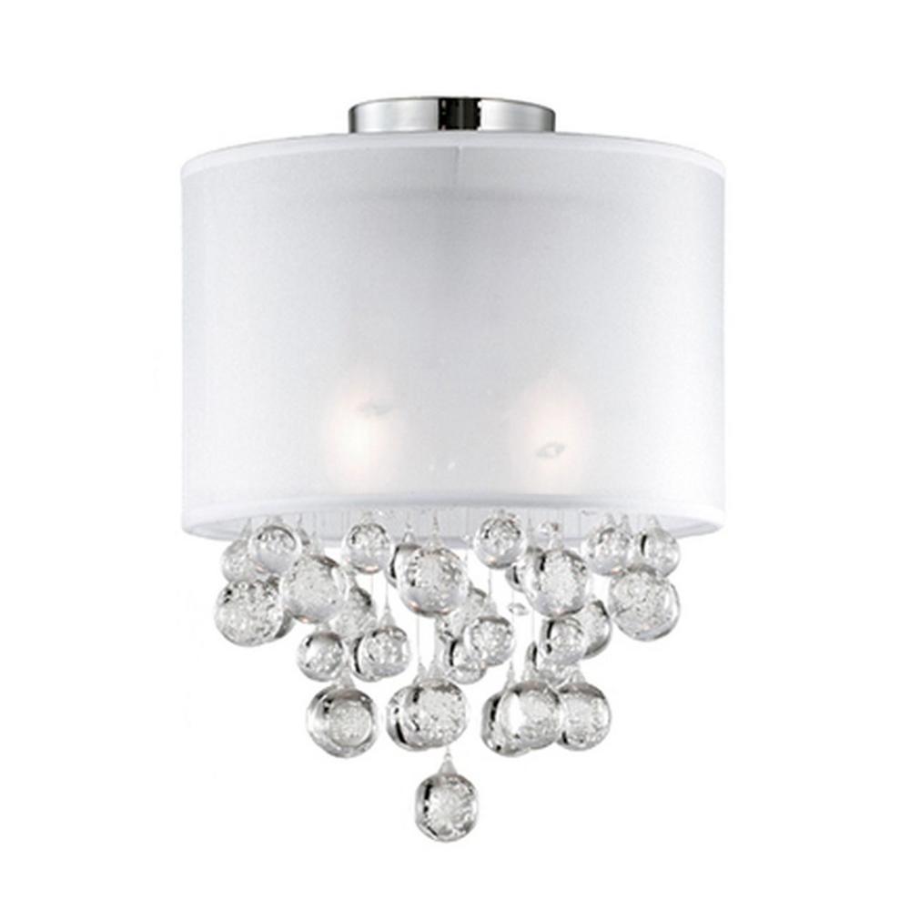 Wheaton 2-Light Chrome Semi-Flushmount Light