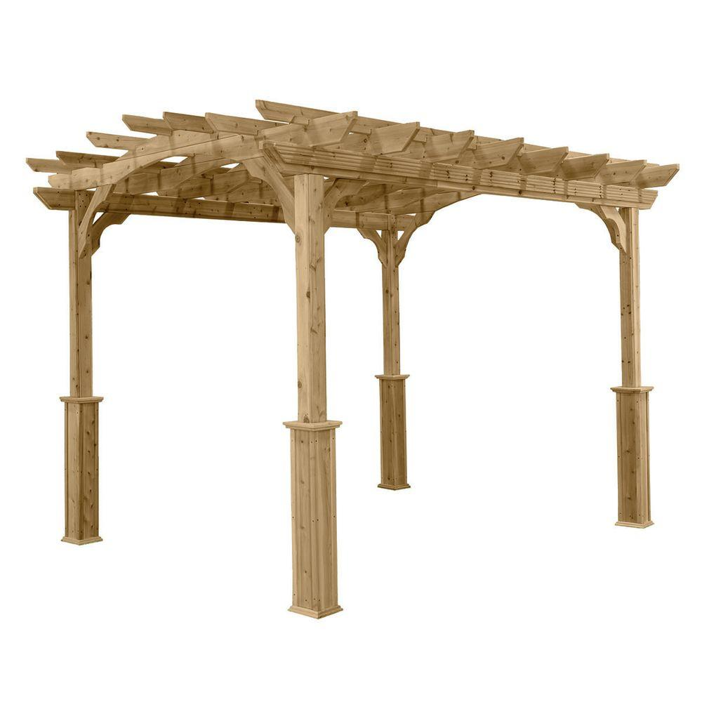 HomePlace Structures 8 ft. x 10 ft. Cedar Pergola