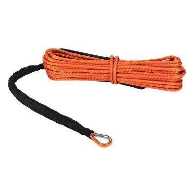 The Devil's Hair Synthetic ATV/UTV Winch Rope in Orange