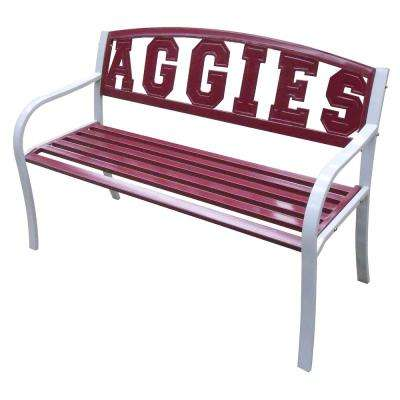 Texas A and M Aggies Metal Patio Bench