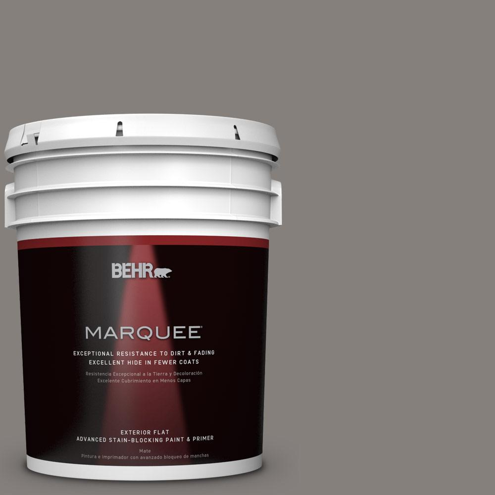 5-gal. #PPU18-17 Suede Gray Flat Exterior Paint