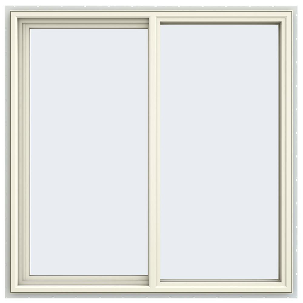 JELD-WEN 47.5 in. x 47.5 in. V-4500 Series Left-Hand Sliding Vinyl Window - Yellow