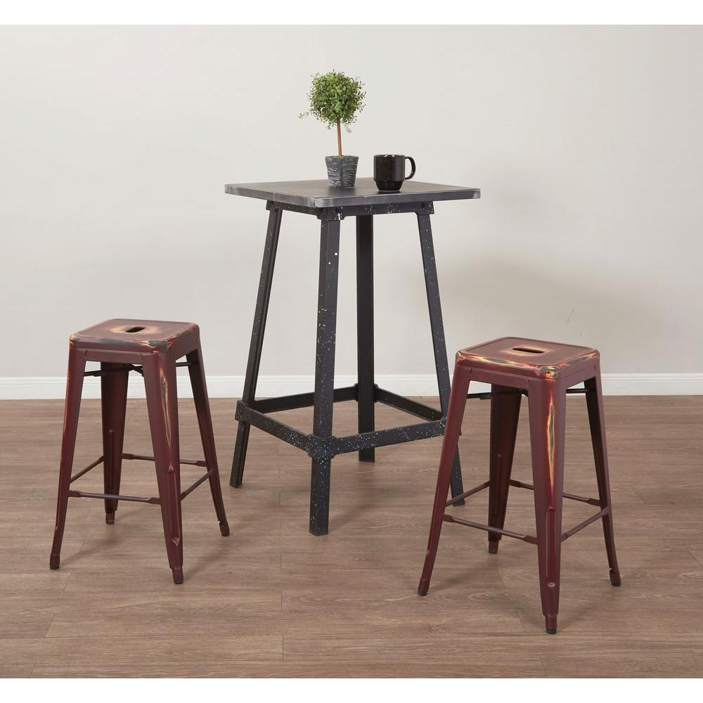 OSP Home Furnishings Bristow 26.25 in. Antique Red Bar Stool (Set of 4) OSP Home Furnishings Bristow 26.25 in. Antique Red Bar Stool (Set of 4)
