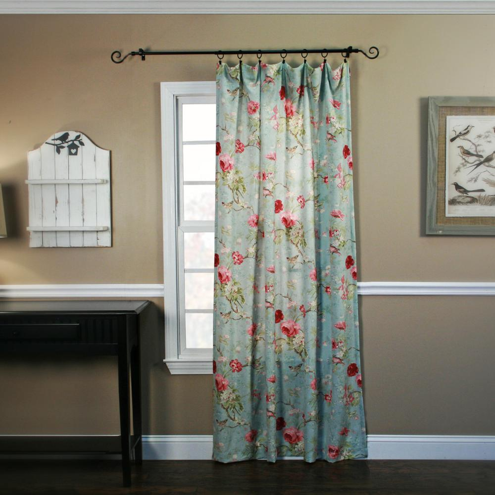 Ellis Curtain Balmoral Sage Polyester Tailored Panel Curtain - 48 in. W x 84 in. L
