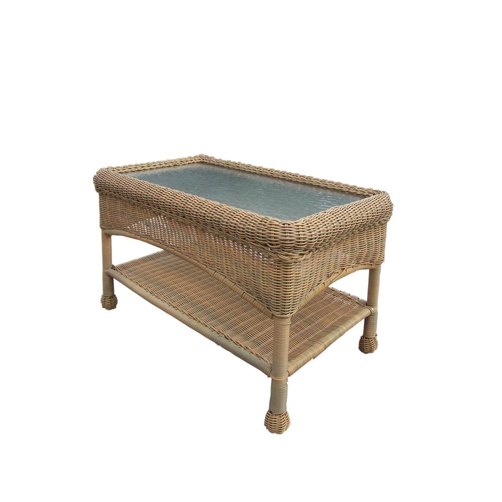 Honey Resin Wicker Outdoor Coffee Table