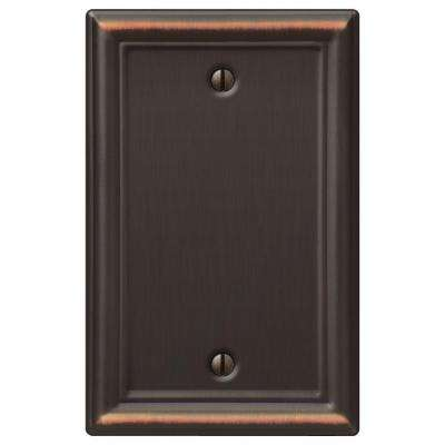 Chelsea 1 Blank Wall Plate - Aged Bronze