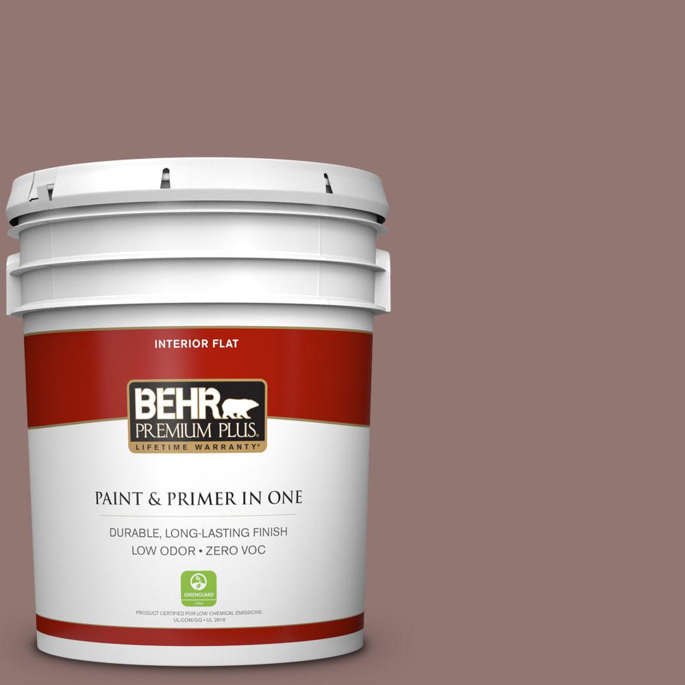 5 gal. #710B-5 Milk Chocolate Flat Zero VOC Interior Paint and