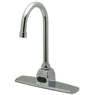 Battery Powered Single Handle Touchless Bathroom Faucet in Chrome