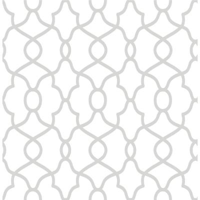 Clearly Cool Silver Peel and Stick Wallpaper Sample