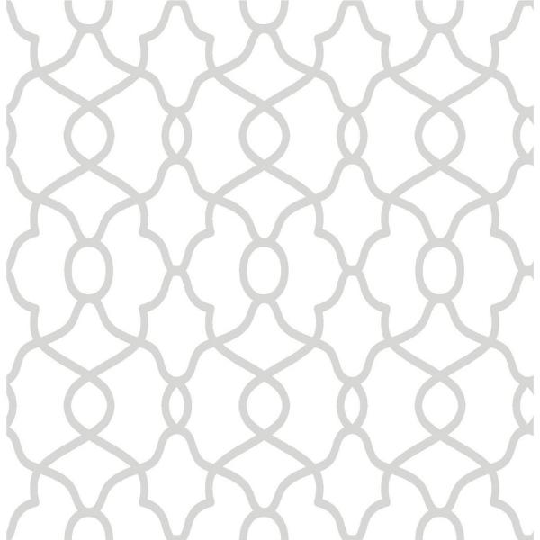 Clearly Cool Silver Peel and Stick Wallpaper
