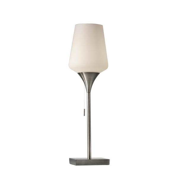 Roxy 24.5 in. Brushed Steel Table Lamp