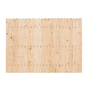 6 Ft H X 8 Ft W Pine Dog Ear Fence Panel 7643 The Home