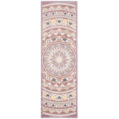 Paradise Purple/Cream 2 ft. 3 in. x 7 ft. Runner