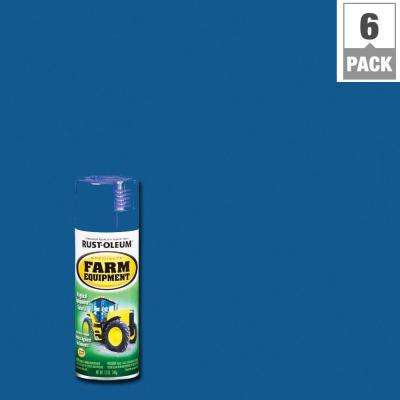 12 oz. Farm Equipment Ford Blue Gloss Enamel Spray Paint (6-Pack)