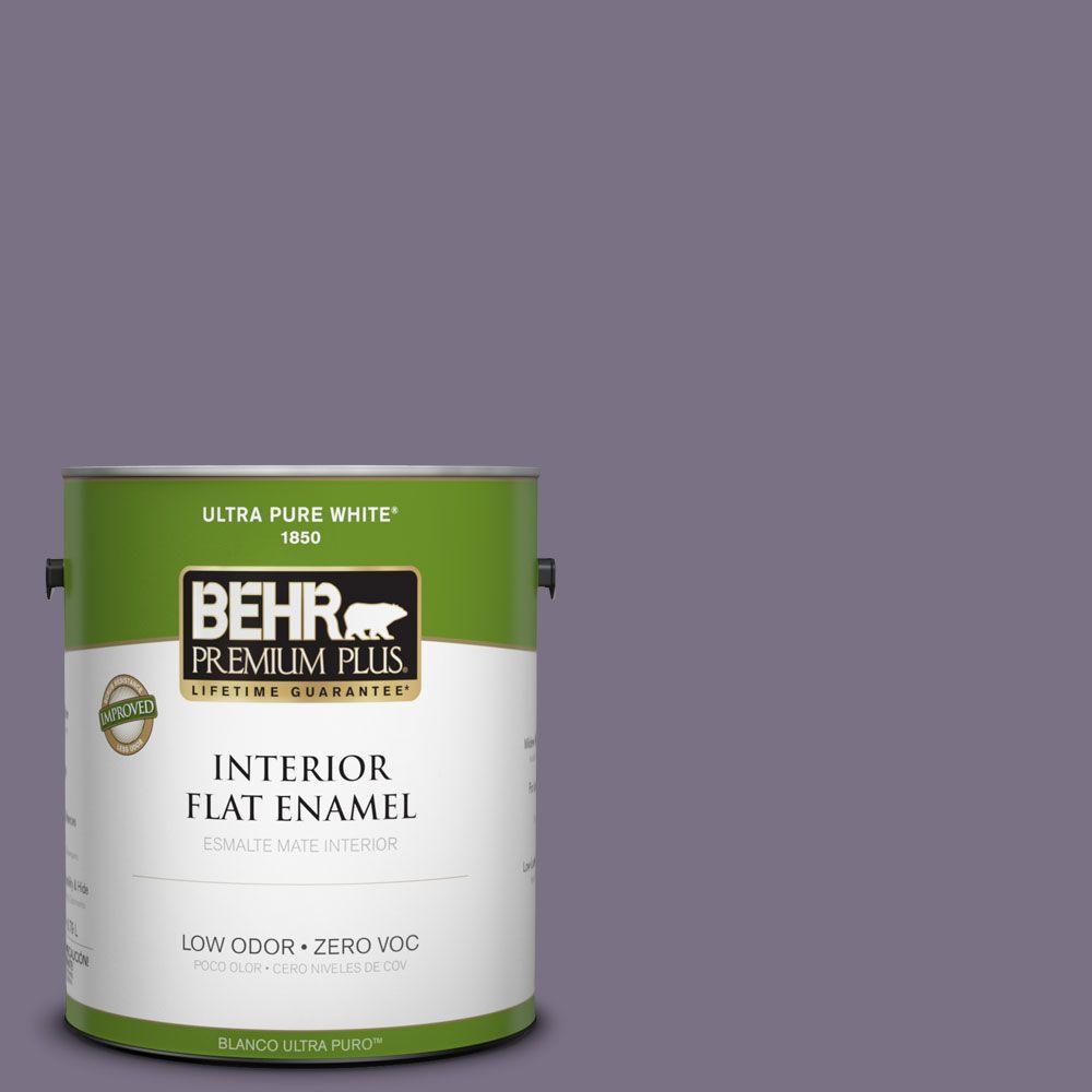 BEHR Premium Plus 1-gal. #660F-6 Peruvian Violet Zero VOC Flat Enamel Interior Paint-DISCONTINUED