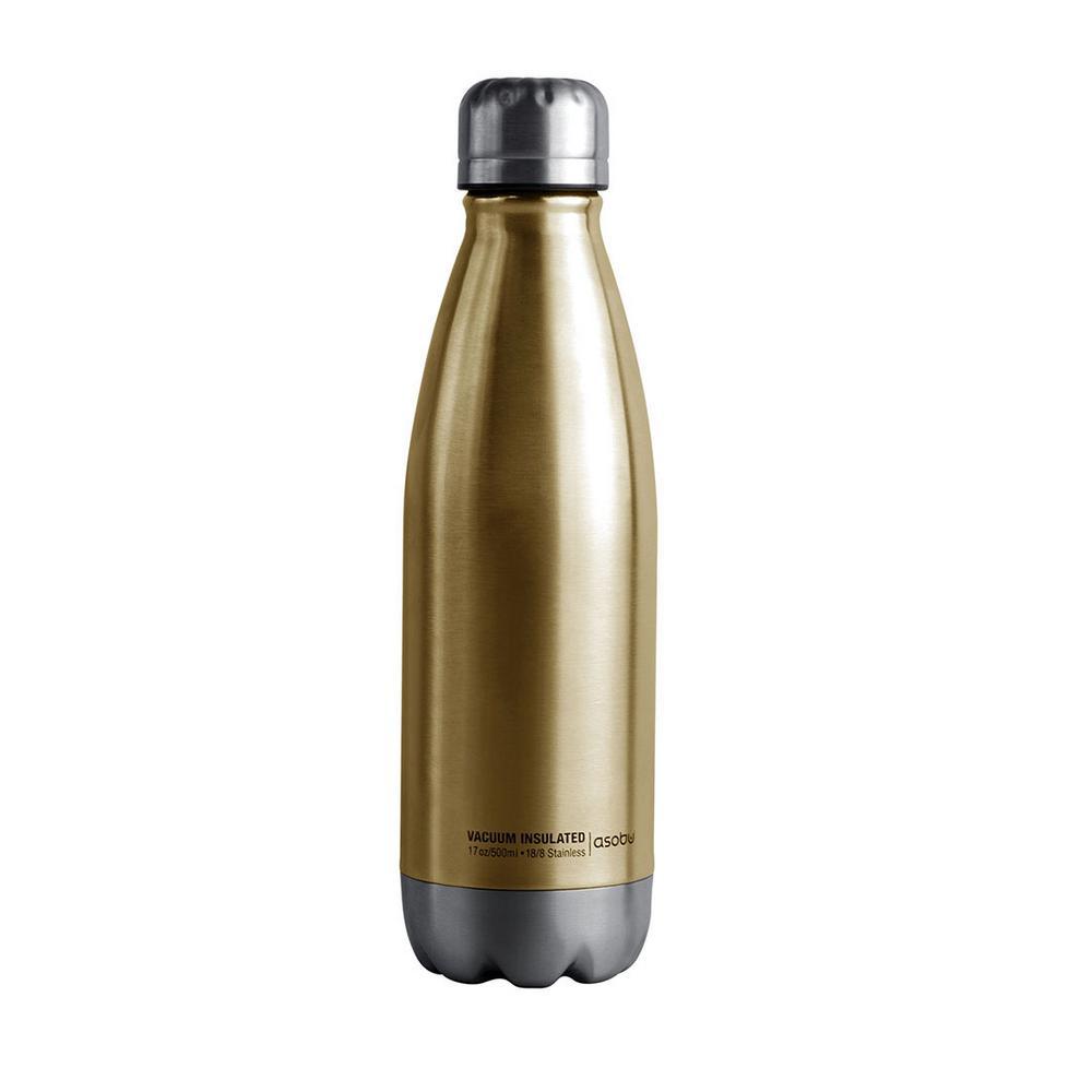 Central Park Travel Bottle 17 oz. Gold Water Bottle