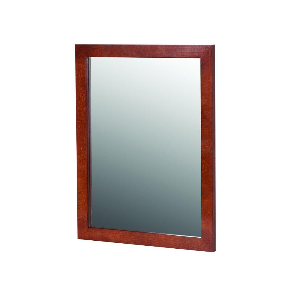 Glacier Bay Lancaster 20 in. x 27 in. Wall Mirror in Amber