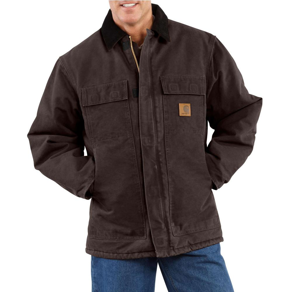 Men's Extra-Large Tall Dark Brown Cotton AQL Sandstone Traditional Coat