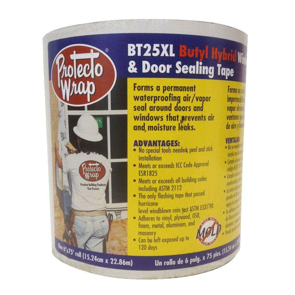 Protecto Wrap BT25XL 6 in. x 50 ft. Window and Door Sealing Tape