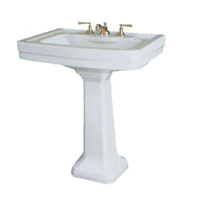 St Thomas By Icera Richmond Grande Pedestal Combo Bathroom Sink in White