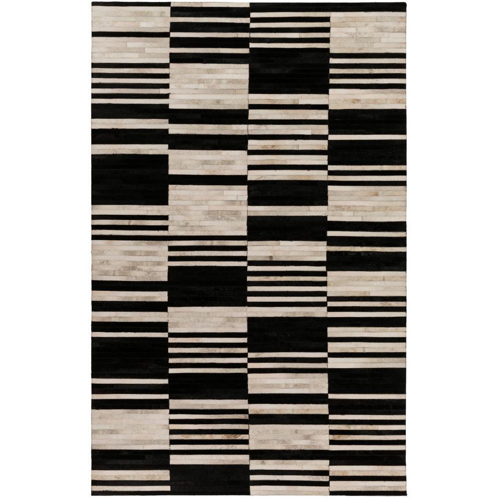Cedric Black 2 ft. x 3 ft. Area Rug