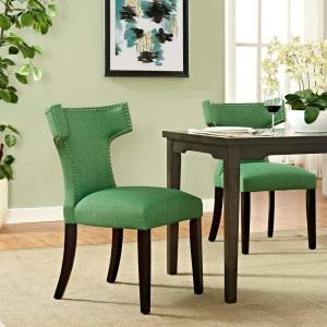 Internet 303656873 Modway Curve Kelly Green Fabric Dining Chair
