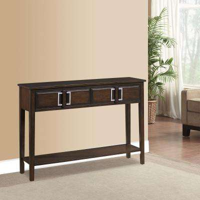 Brown Storage Console Table