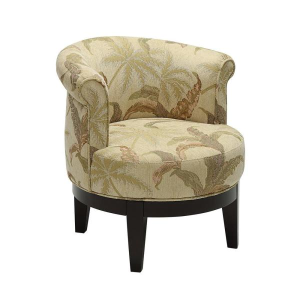 Accent Chairs.Titan Brown Swivel Accent Chair