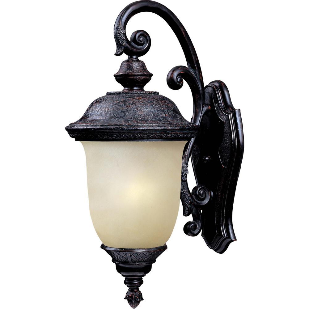 Maxim Lighting Carriage House 9 in. W 1-Light Oriental Bronze Outdoor Wall Lantern Sconce