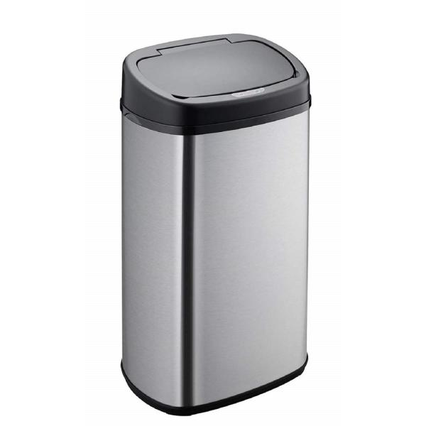15.3 Gal. Stainless Steel Ellipse Sensor Trash Can